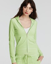 Juicy Couture Hoodie - Long Sleeve Original Zip Velour Hoodie