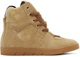 Loewe Camel Suede High-top Sneakers