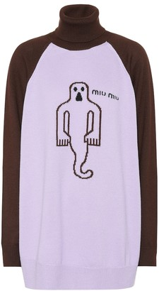 Miu Miu Wool ghost turtleneck sweater