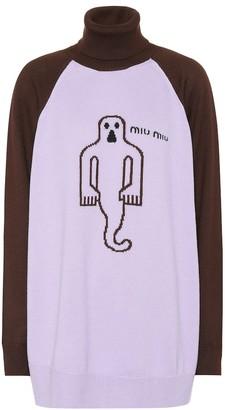 Miu Miu Wool ghost turtleneck sweater