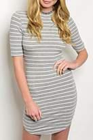 Estam Grey Stripe Dress