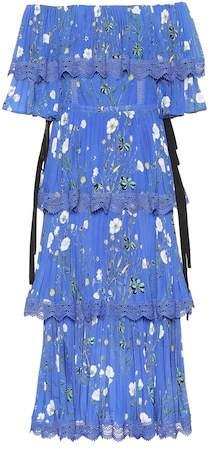 Self-Portrait Exclusive to mytheresa.com – Floral-printed crêpe midi dress