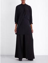 Chalayan Draped silk-crepe blouse