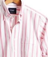 Drakes Drake's Broad Stripe Oxford Button Down Shirt in Pink