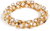 RJ Graziano Stretch Bangle in Bone
