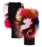 Jocelyn Fox Fur Knit Mittens