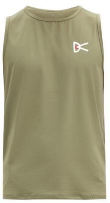 District Vision Air Wear Logo-print Mesh Tank Top - Khaki