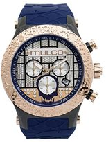 Mulco Men's MW5-2331-043 Couture Analog Display Swiss Quartz Blue Watch