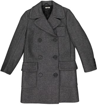 Miu Miu Grey Wool Coats