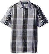 Perry Ellis Men's Big and Tall Chambray Plaid Shirt