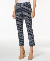 Charter Club Newport Print Slim Leg Cropped Pants, Only at Macy's