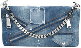DSQUARED2 Babe Wire denim clutch - women - Cotton - One Size