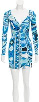 Emilio Pucci Abstract Print Long Sleeve Tunic