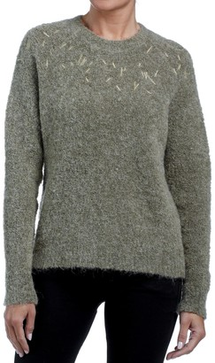 Freeman T. Porter High Neck Jumper with Embroidered Details at the Neckline