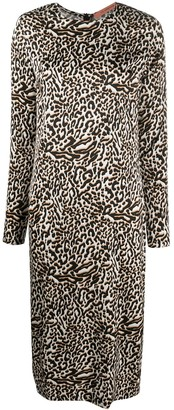 Andamane Leopard Print Midi Dress