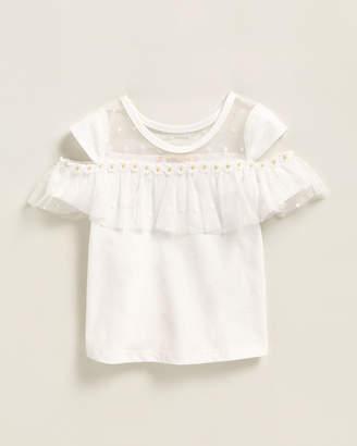 Baby Sara Infant Girls) Mesh Ruffle Polka Dot Tank Top
