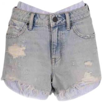 Alexander Wang Blue Cotton Shorts for Women