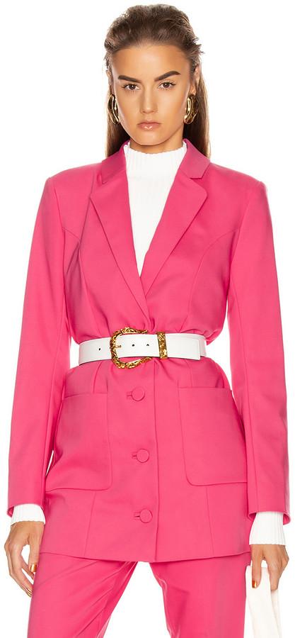 GRLFRND Jeane Suit Jacket in Bright Pink | FWRD