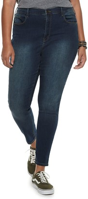 Mudd Juniors' Plus Size High-Waisted Jeggings