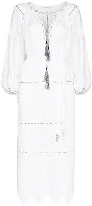 Vita Kin Nirella tassel-trim linen dress