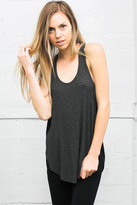 Joah Brown - Live In Slouchy Tank In Charcoal
