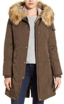 1 Madison Hooded Parka with Faux Fur Trim