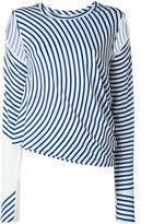 MM6 MAISON MARGIELA striped blouse - women - Viscose/Spandex/Elastane - 44