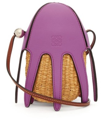 Loewe Paula's Ibiza - Ice Cream Wicker Cross-body Bag - Purple Multi