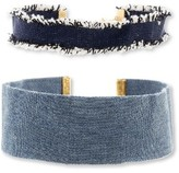 Steve Madden Women's 2-Pack Denim Chokers