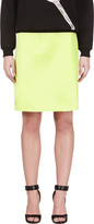 Jonathan Saunders Acid Green A-line Skirt