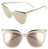 MCM Women's 56Mm Cat Eye Sunglasses - Sparkly Ivory