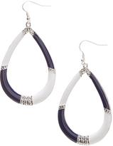 Carole Navy & White Tear Drop Earring