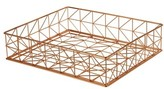 Design Ideas Trace Letter Basket - Metallic