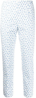 Peserico Brush Stroke Print Trousers