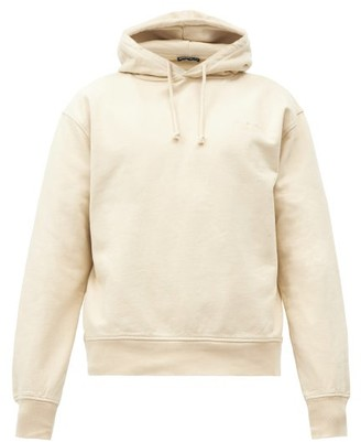 Jacquemus Logo-embroidered Cotton Hooded Sweatshirt - Beige