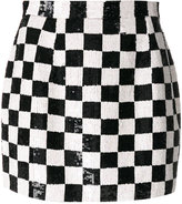 Ashish sequins check mini skirt