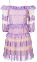 Blumarine ruffled lace dress