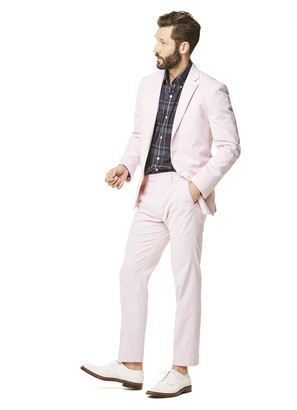 Todd Snyder White Label Fine Corded Cotton Stripe Sutton Suit Jacket in Pink