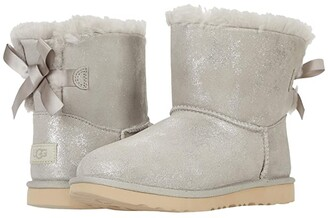 Ugg Kids Mini Bailey Bow II Shimmer (Little Kid/Big Kid) (Goat) Girls Shoes