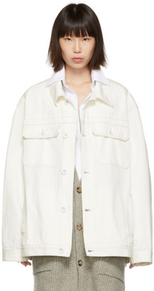 Maison Margiela Off-White Oversized Denim Jacket