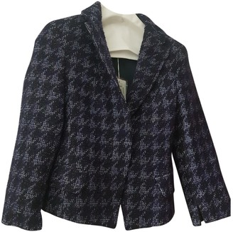 Patrizia Pepe Purple Tweed Coat for Women