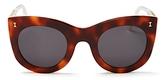 Illesteva Boca Oversized Cat Eye Sunglasses, 47mm