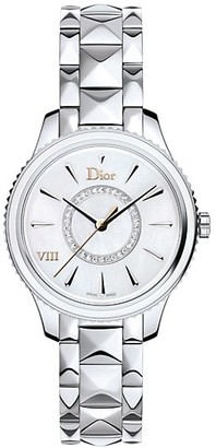 Christian Dior VIII Montaigne Diamond, Mother-Of-Pearl Stainless Steel Bracelet Watch