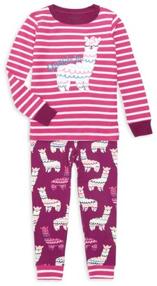 Hatley Little Girl's & Girl's Adorable Alpaca 2-Piece Pajama Set