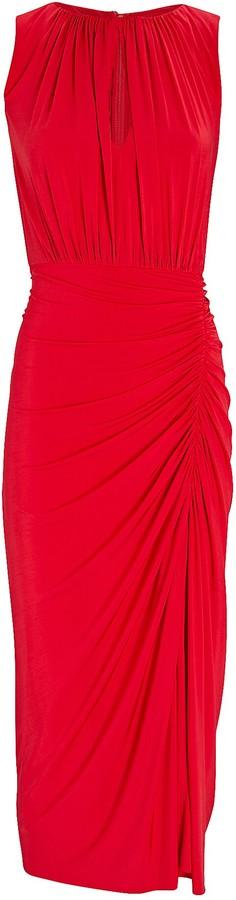 Jason Wu Collection Draped Jersey Midi Dress