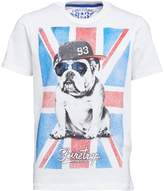 Firetrap Junior Boys Flag Bulldog T-Shirt Bright White