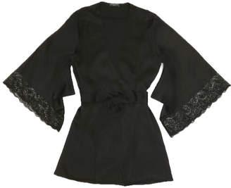 Samantha Chang Lace-Printed Silk Yukata Robe