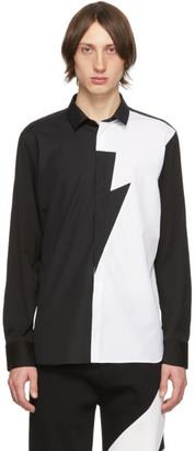 Neil Barrett Black and White Thunderbolt Shirt