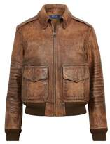 Polo Ralph Lauren Leather Bomber Jacket