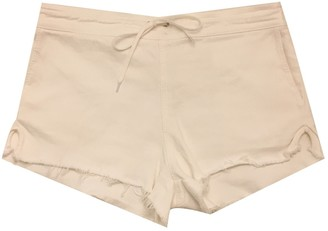 Chloé White Cotton - elasthane Shorts for Women